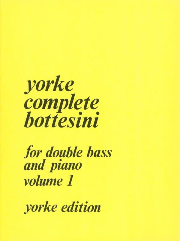 Giovanni Bottesini - Complete Bottesini Volume 1 - Partition - di-arezzo.co.uk