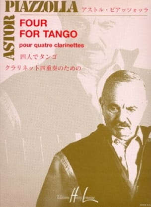 Astor Piazzolla - Four for Tango - 4 Clarinets - Partition - di-arezzo.co.uk