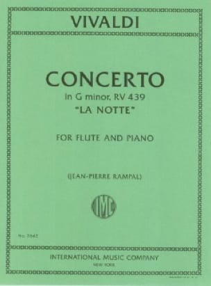 VIVALDI - Concerto in min. The notte - Piano flute - Partition - di-arezzo.co.uk