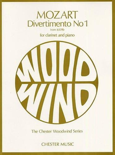 MOZART - Divertimento No. 1 KV 439b - Clarinet and piano - Partition - di-arezzo.co.uk