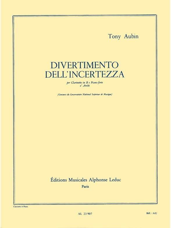 Divertimento dell' incertezza - Tony Aubin - laflutedepan.com