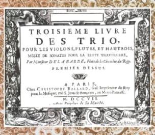 Troisième Livre des Trio ... mêlez de Sonates pour la flûte traversière - laflutedepan.com