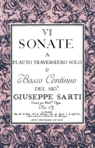 6 Sonate a flauto traversiero solo e basso / 3 Sonate per cembalo con flauto - laflutedepan.com