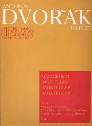 Bagatelles op. 47 -parties - DVORAK - Partition - laflutedepan.com