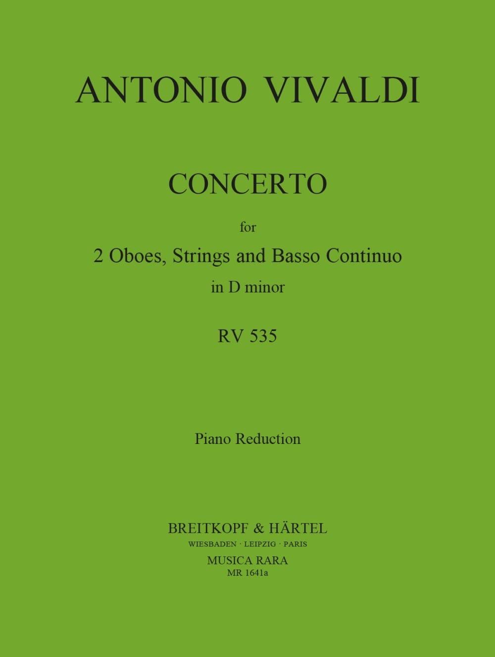 VIVALDI - Concerto In D Minor Rv 535 / P 302- 2 Oboes Piano - Partition - di-arezzo.es