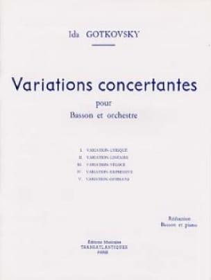 Variations concertantes - Ida Gotkovsky - Partition - laflutedepan.com