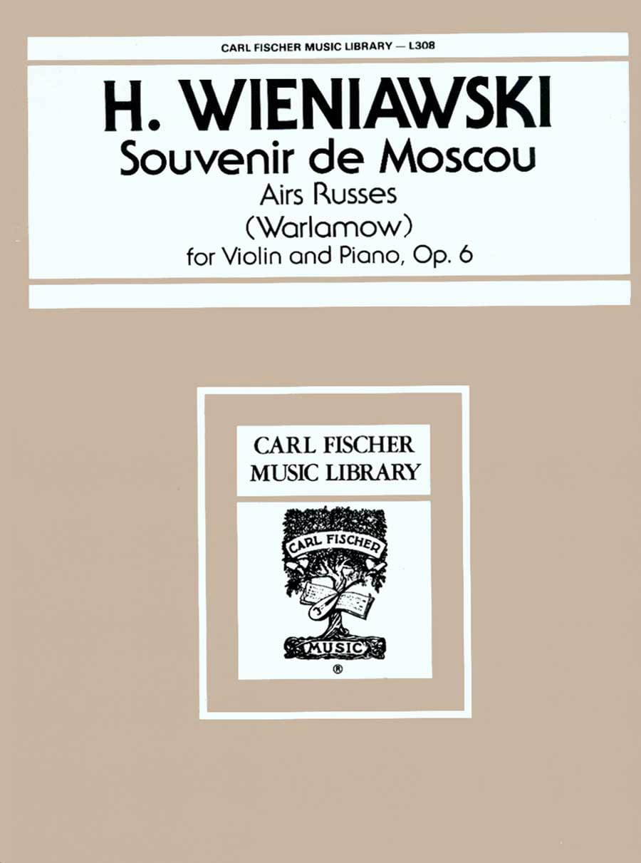 Souvenir de Moscou op. 6 - WIENAWSKI - Partition - laflutedepan.com