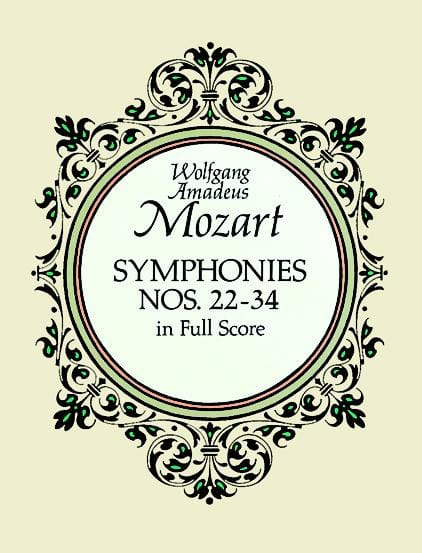 MOZART - Symphonies N ° 22-34 - Full Score - Partition - di-arezzo.co.uk