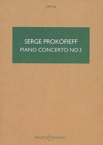 Serge Prokofiev - Piano Concerto No. 3 Op. 26 - Partition - di-arezzo.com