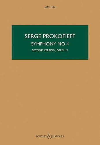 Serge Prokofiev - Sinfonía No. 4 - Partitura - Partition - di-arezzo.es