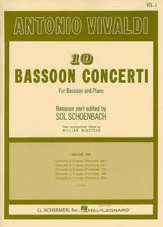 VIVALDI - 10 Bassoon Concerti - Volume 1 - Partition - di-arezzo.co.uk