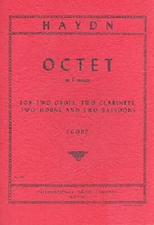 Octet in F major - Score - HAYDN - Partition - laflutedepan.com