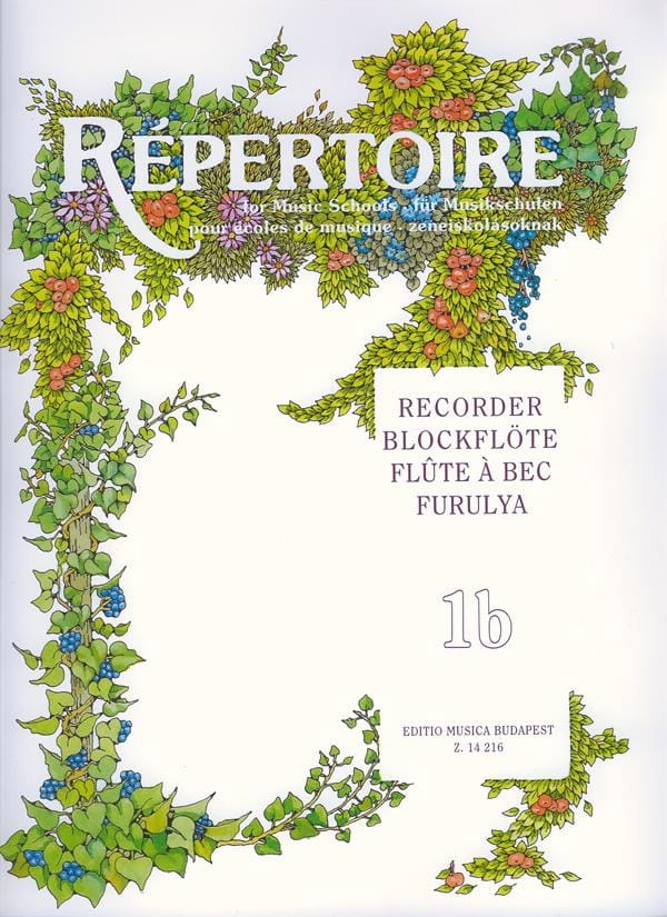 Repertoire for music schools - Volume 1B - Recorder - laflutedepan.com