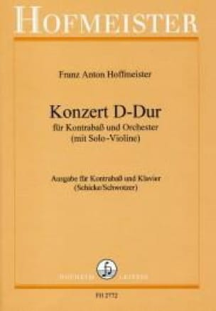 Franz Anton Hoffmeister - Konzert D-Dur - Kontrabass - Partition - di-arezzo.co.uk