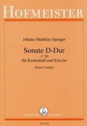 Johann Matthias Sperger - Sonata in D major T 38 - Partition - di-arezzo.co.uk