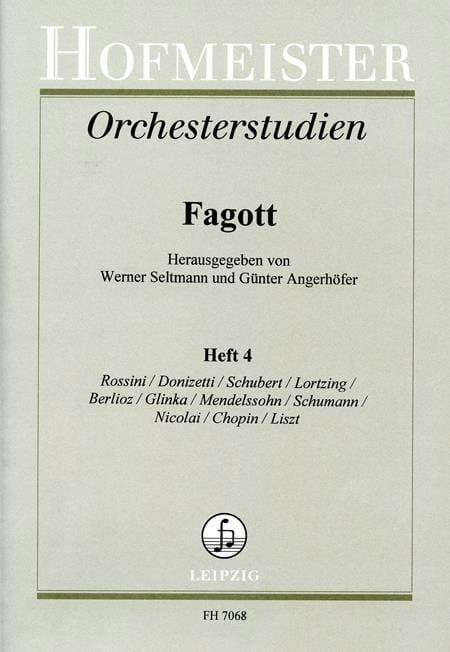 Seltmann Werner / Angerhöfer Günter - Orchesterstudien - Fagott - Heft 4 - Partition - di-arezzo.es