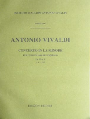 VIVALDI - Concerto in the min. - F. 1 No. 177 - Partitura - Partition - di-arezzo.co.uk