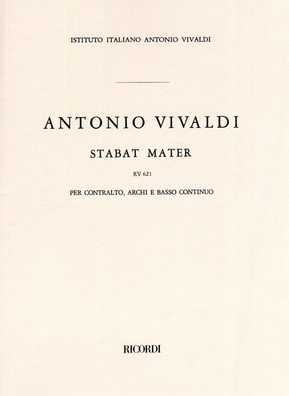 VIVALDI - Stabat Mater RV 621 - Partition - di-arezzo.co.uk