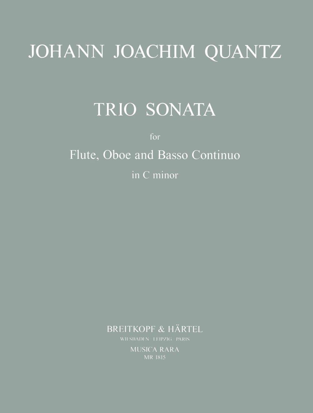 Trio Sonata in C minor - Flute Oboe Bc - QUANTZ - laflutedepan.com