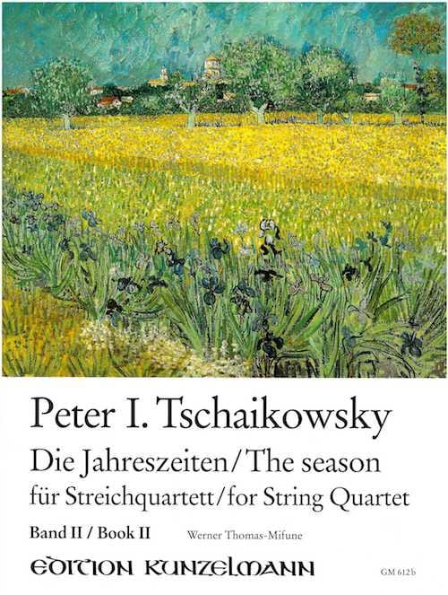 TCHAIKOVSKY - The Seasons, Volume 2 - String quartet - Partition - di-arezzo.co.uk