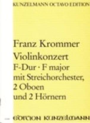 Violinkonzert F-Dur - Partitur - KROMMER - laflutedepan.com