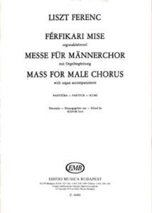 Franz Liszt - Misa para Männerchor - Partitur - Partition - di-arezzo.es