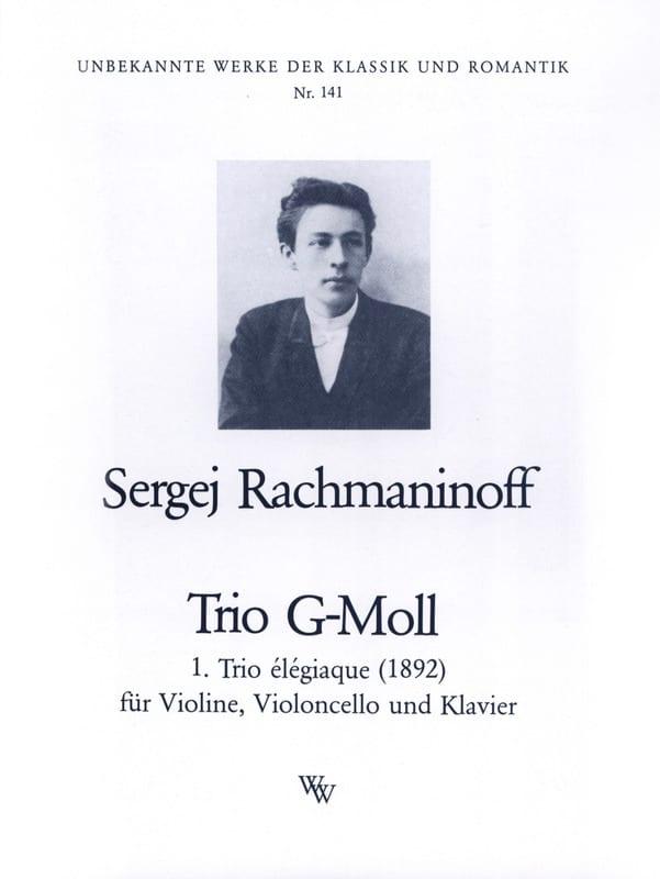 RACHMANINOV - Elégiaque Trio in Sol Min 1892 - Partition - di-arezzo.co.uk