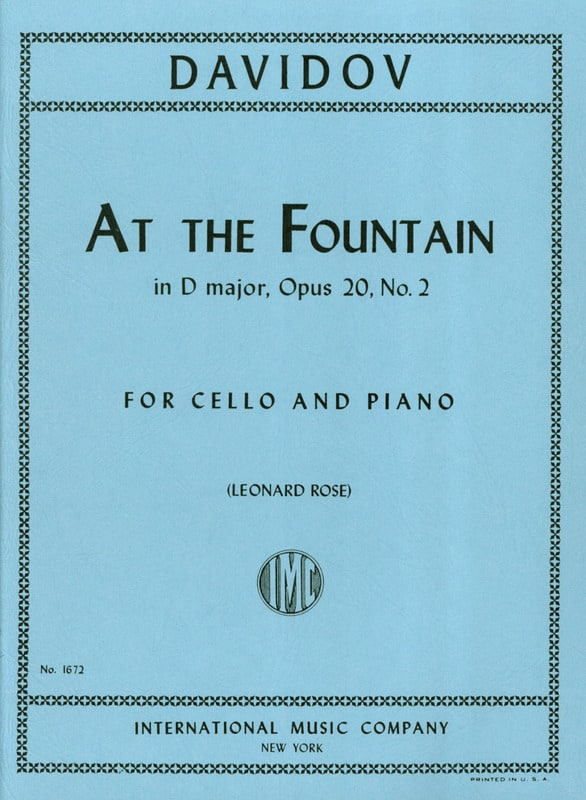 Charles Davidoff - At The Fountain in D Major op. 20 n ° 2 - Partition - di-arezzo.co.uk