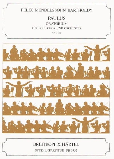 Paulus op. 36 - Partitur - MENDELSSOHN - Partition - laflutedepan.com