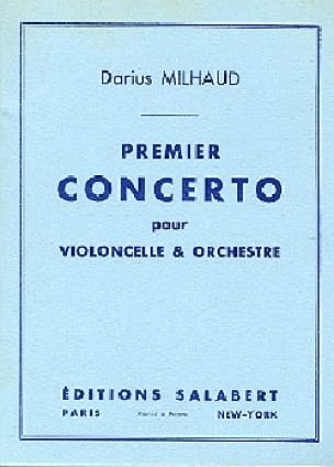 Darius Milhaud - Concerto No. 1 for cello - Partition - di-arezzo.com