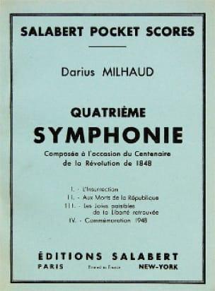 Darius Milhaud - Symphony No. 4 - Conductor - Partition - di-arezzo.com