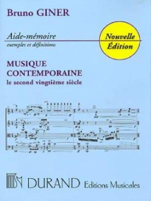 Bruno Giner - Contemporary Music Aide-Mémoire - Livre - di-arezzo.com