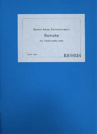 Sonate - Cello solo - Bernd Alois Zimmermann - laflutedepan.com