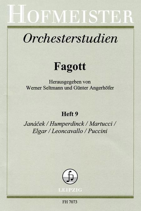 Orchesterstudien - Fagott - Heft 9 - laflutedepan.com