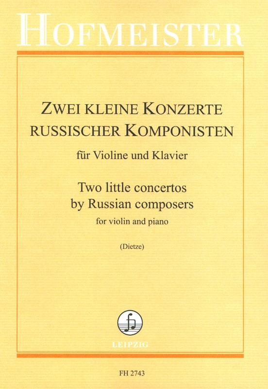 2 kleine Konzerte russischer Komponisten - laflutedepan.com