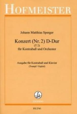 Johann Matthias Sperger - Konzert No. 2 D-Dur, T 2 - Kontrabass - Partition - di-arezzo.co.uk