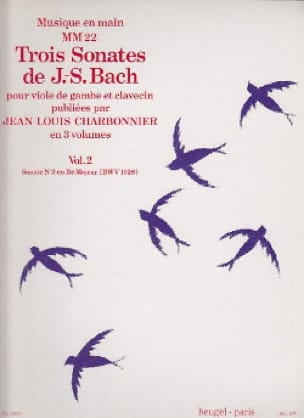 3 Sonates - Volume 2 : Sonate n° 2 en ré maj. BWV 1028 - laflutedepan.com