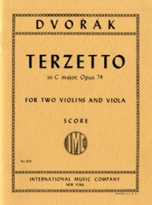 DVORAK - Terzetto in C major op. 74 - Score - Partition - di-arezzo.com
