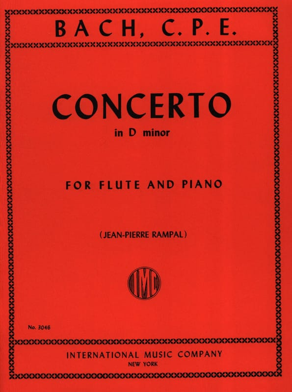 Carl Philipp Emanuel Bach - Concerto In D Minor - Piano Flute - Partition - di-arezzo.com