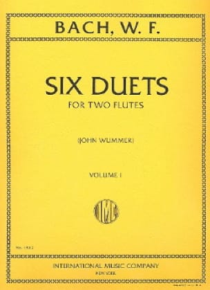 Wilhelm Friedemann Bach - 6 Duets - Volume 1 - 2 Flutes - Partition - di-arezzo.co.uk