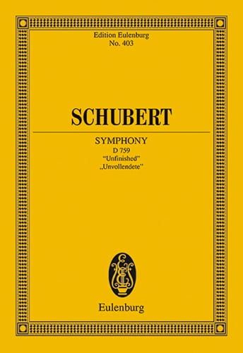 Symphonie N° 7 H-Moll - SCHUBERT - Partition - laflutedepan.com