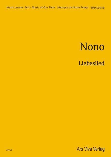 Liebeslied - Partitur - Luigi Nono - Partition - laflutedepan.com
