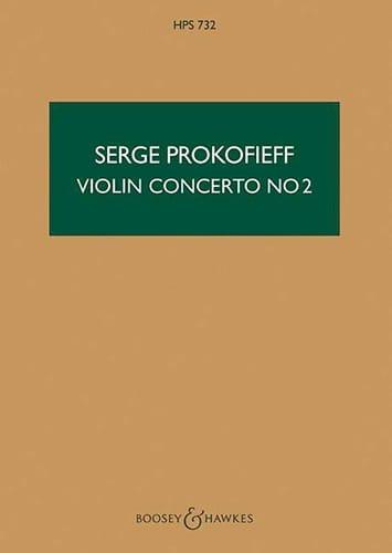Serge Prokofiev - Concierto para violín n. ° 2 op. 63 - Puntuación - Partition - di-arezzo.es
