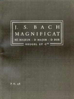 Magnificat en ré majeur - Conducteur - BACH - laflutedepan.com