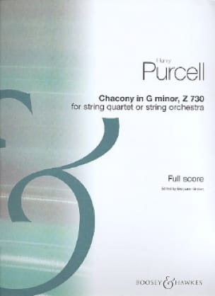 Chacony in G minor Z 730 for strings - Score - laflutedepan.com