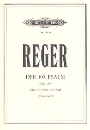 Psalm Nr. 100 op. 106 - Partitur - Max Reger - laflutedepan.com