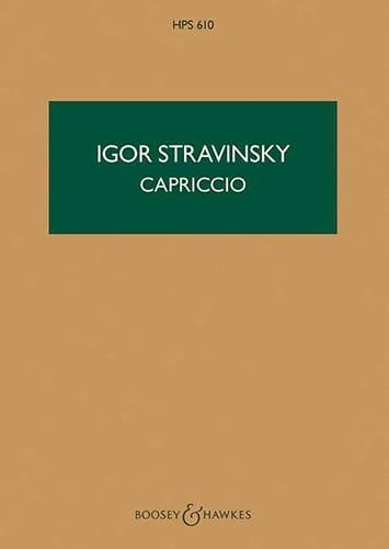 Capriccio - Partitur - STRAVINSKY - Partition - laflutedepan.com