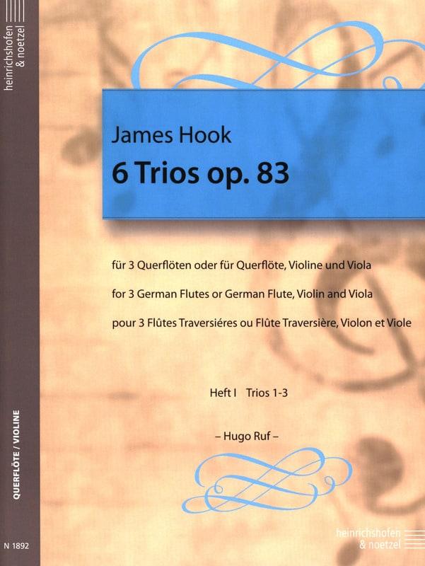 6 Trios op. 83 Heft 1 - 3 Flöten - James Hook - laflutedepan.com