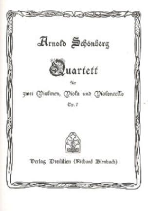 Arnold Schoenberg - Streichquartett Nr. 1 op. 7 - Partitur - Partition - di-arezzo.fr