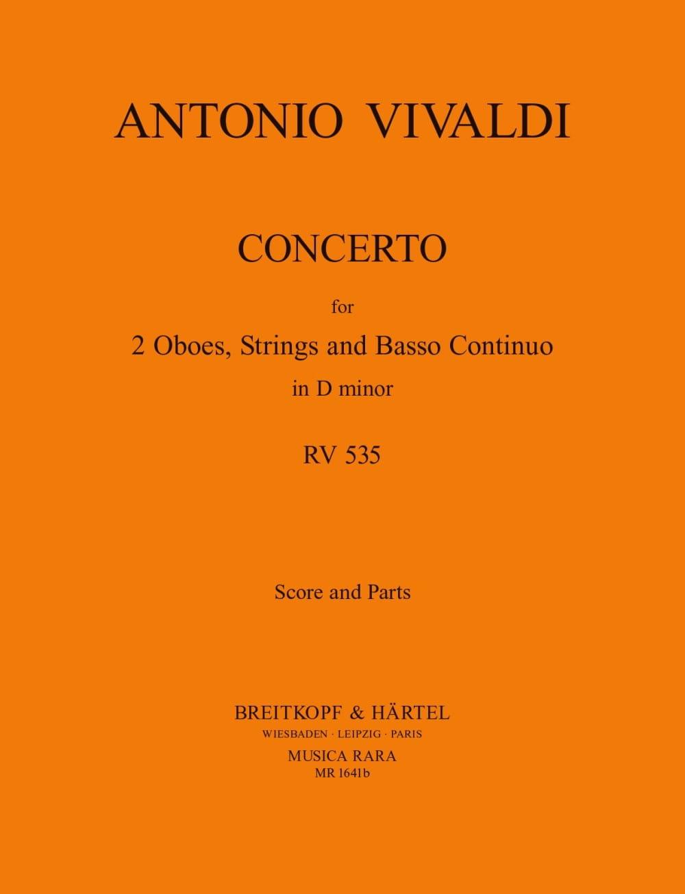 Concerto In D Minor Rv 535 / P 302 -2 Oboes Strings Bc - laflutedepan.com